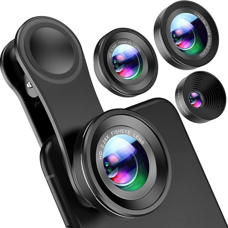 Clip-on smart phone lenses
