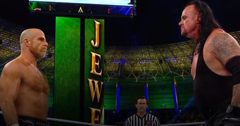 Shawn Michaels and the Undertaker at Crown Jewel