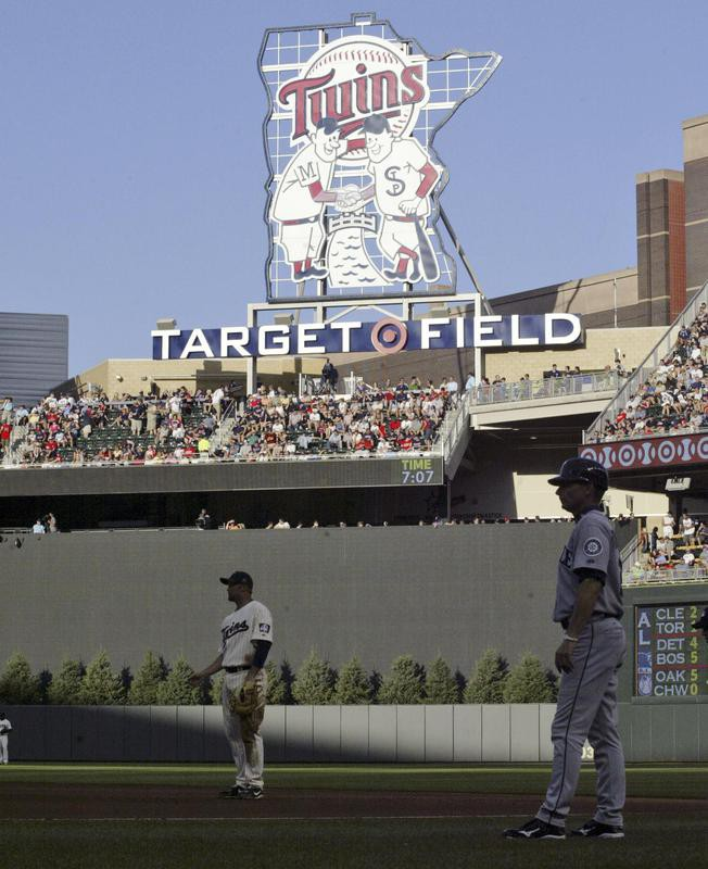 Target Field featuring the Minnie and Paul logo