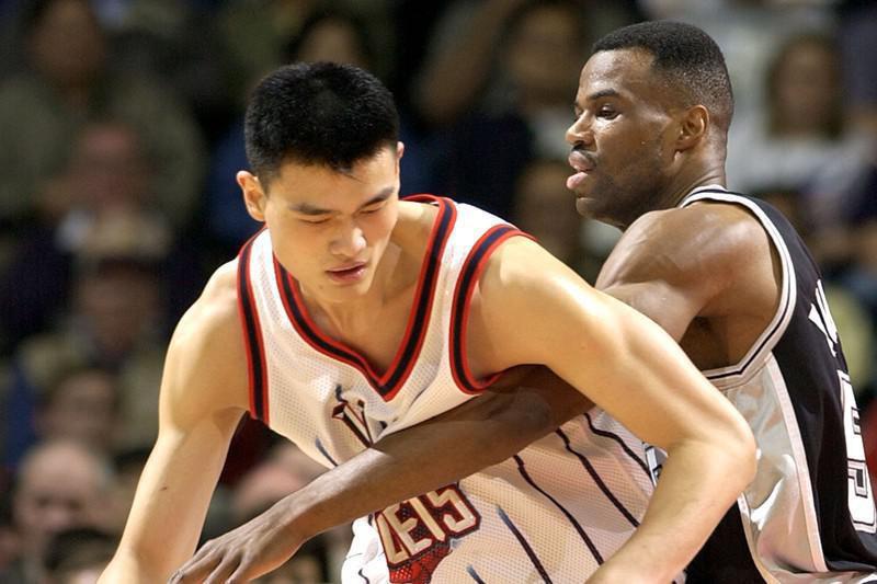 David Robinson and Yao Ming
