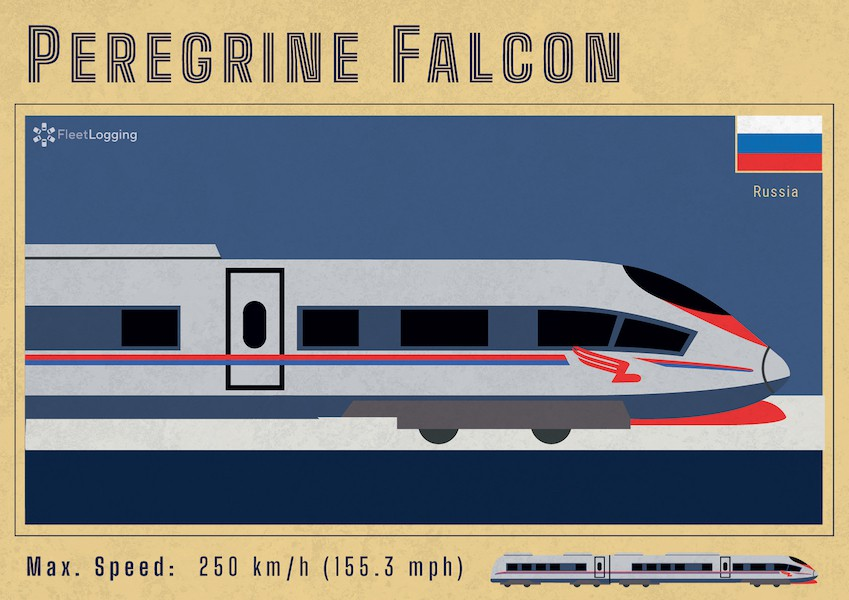 Peregrine Falcon train in Russia