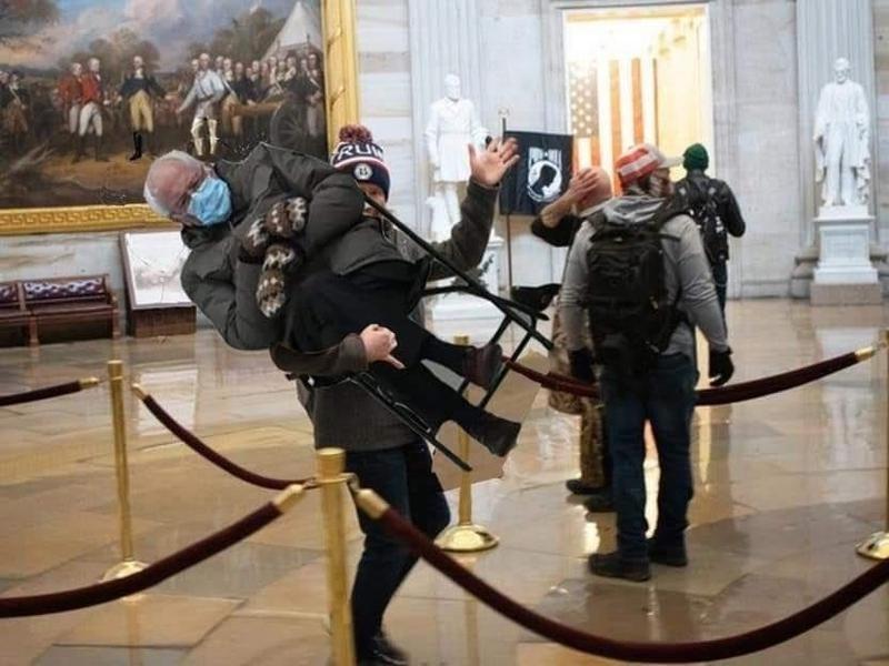 Bernie Sanders in the Capitol