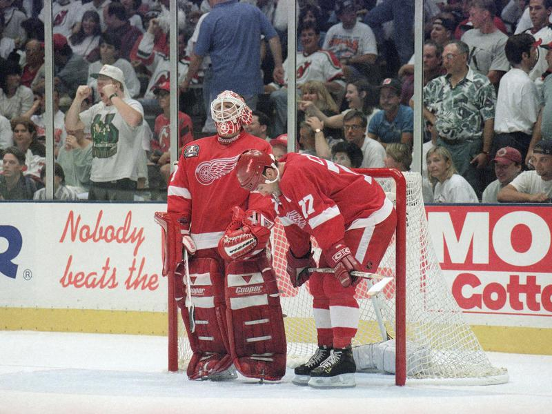 Mike Vernon and Paul Coffey