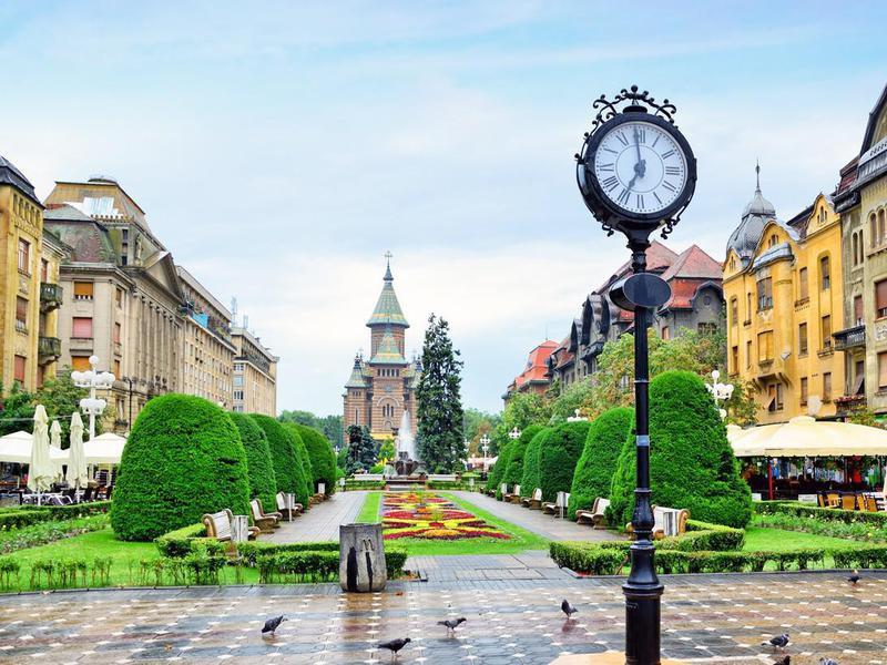 Timisoara Center square, Romania