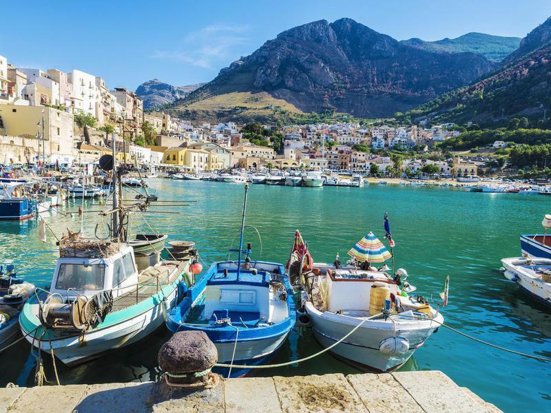 Fishing port in Sicily, Italy