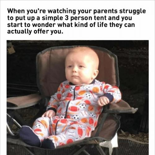 Dubious kid watching parents meme