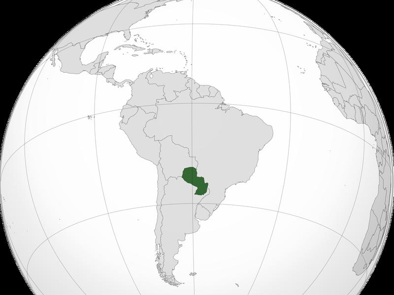 El Stronato on a map