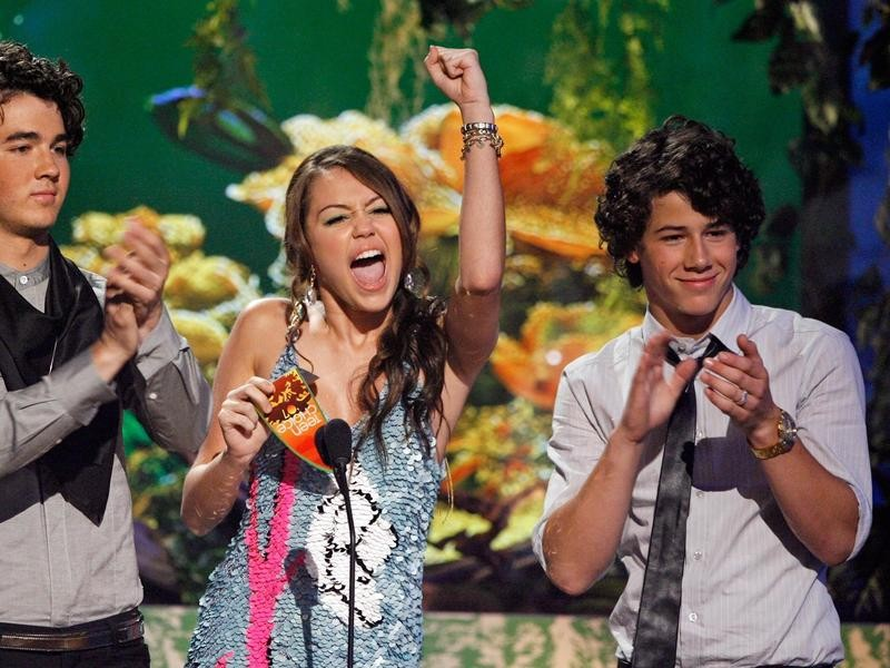 Miley Cyrus and Nick Jonas