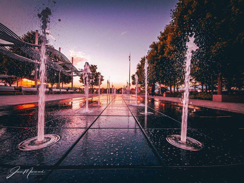 Fountain scene at Smale Riverfront Park