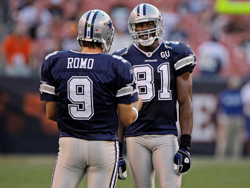 Terrell Owens and Tony Romo