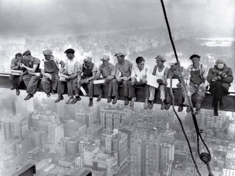 Bernie Sanders at World Trade Center Construction
