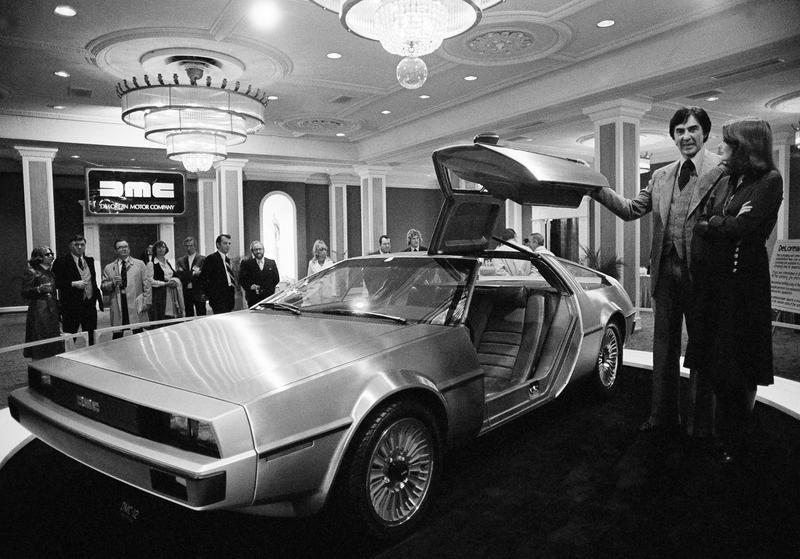 John DeLorean with the DMC-12 DeLorean