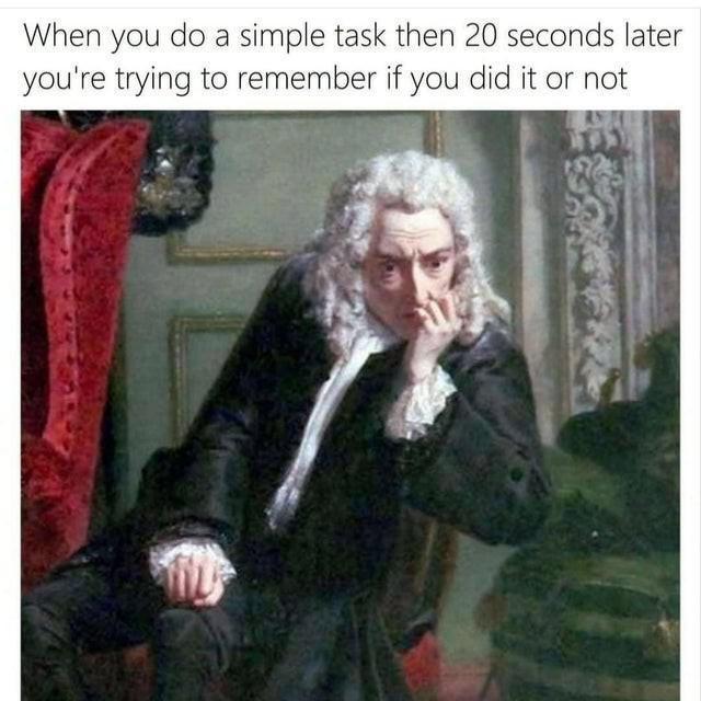 Forgetfulness meme