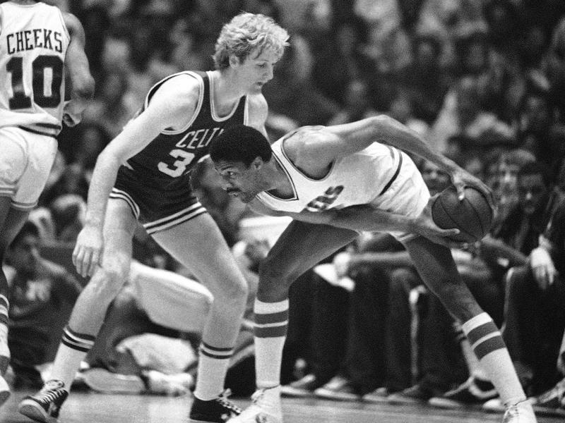 Boston Celtics forward Larry Bird