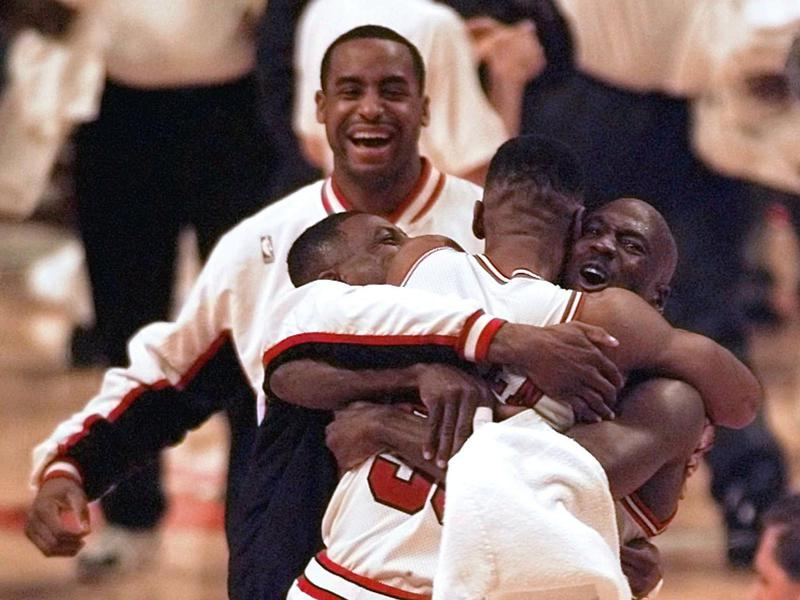 Michael Jordan, Scottie Pippen, Randy Brown