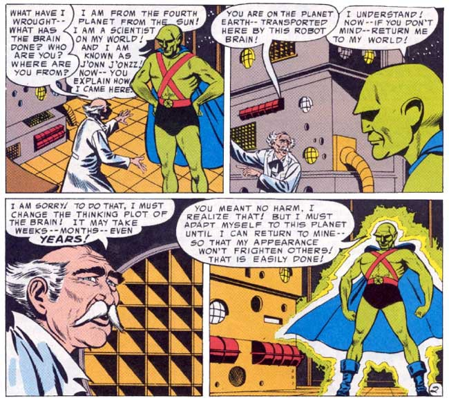 First appearance of Martian Manhunter