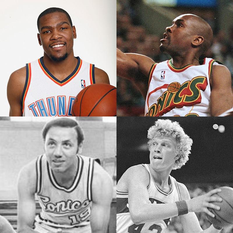 Kevin Durant, Gary Payton, Jack Sikma, Lenny Wilkens