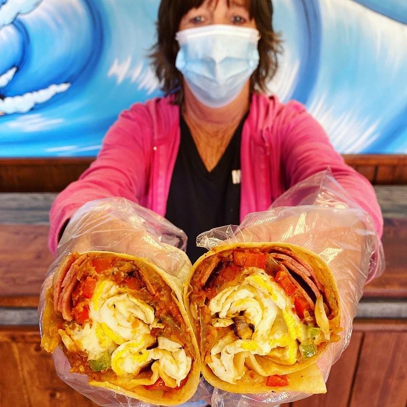 Surf Bagel breakfast burrito