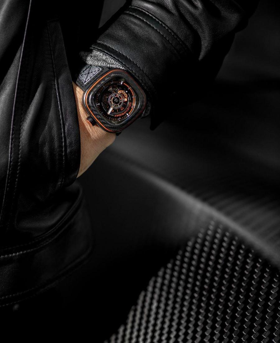 Seven Friday Orange Carbon watch