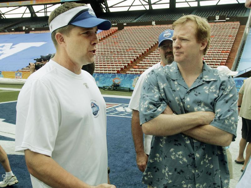 Roger Goodell and Sean Payton