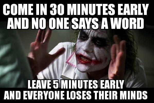 Leave work early meme