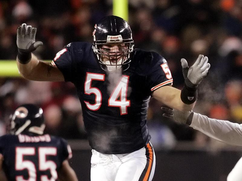 Chicago Bears linebacker Brian Urlacher