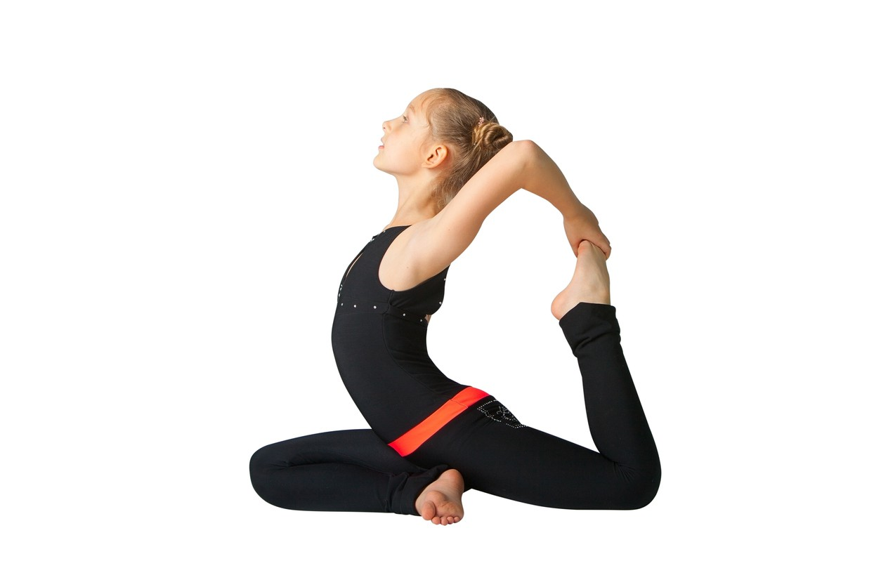 Easy yoga pigeon pose for kids