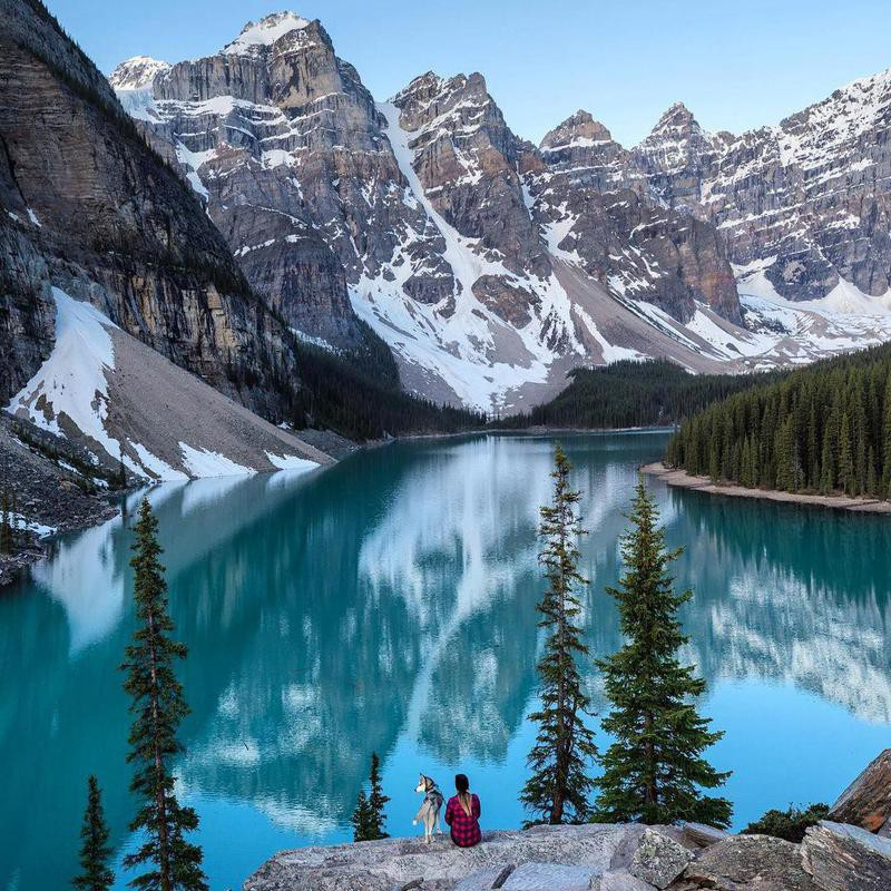 Glacial lake at Jasper National Park
