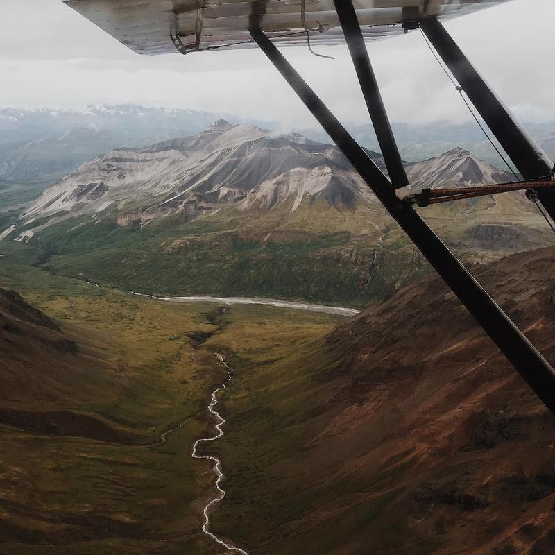Aerial of Mount Saint Elias