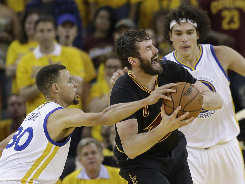 Kevin Love, Stephen Curry, Anderson Varejao
