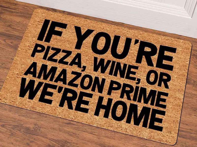 Funny doormats for decoration