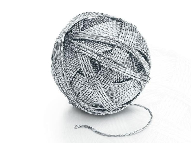 Silver Ball of Yarn
