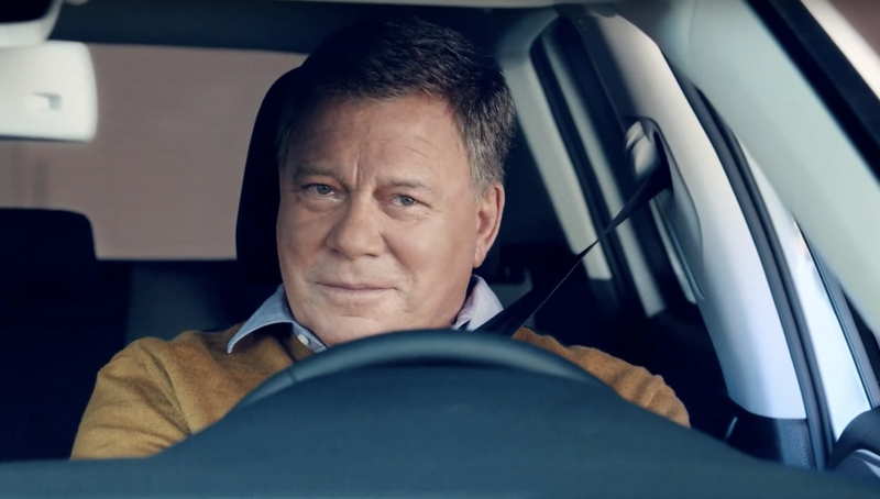 Shatner has lent his voice and his likeness to dozens of commercials, including for a Volkswagen spot.