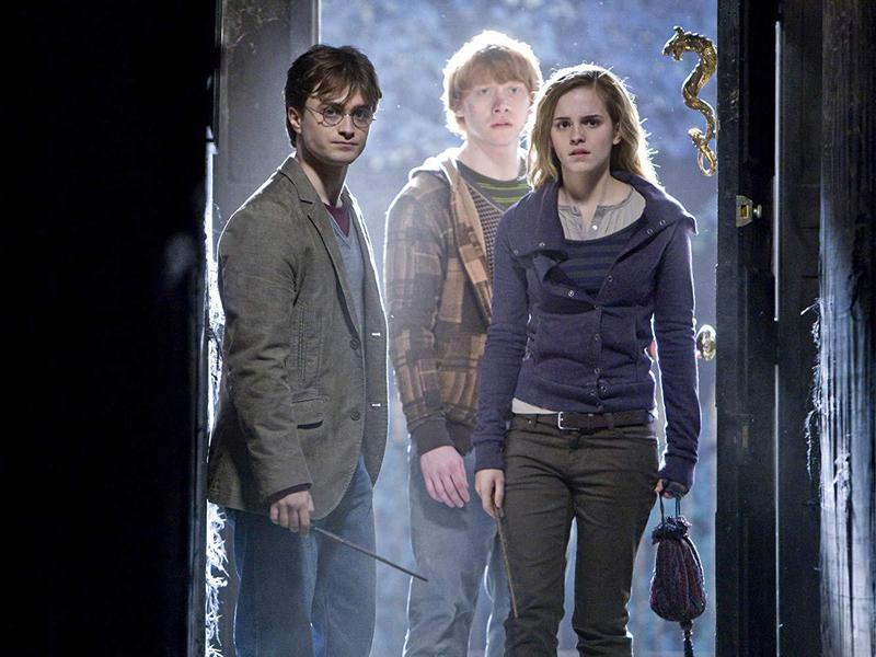 Rupert Grint, Daniel Radcliffe, and Emma Watson in Harry Potter and the Deathly Hallows: Part 1 (2010)