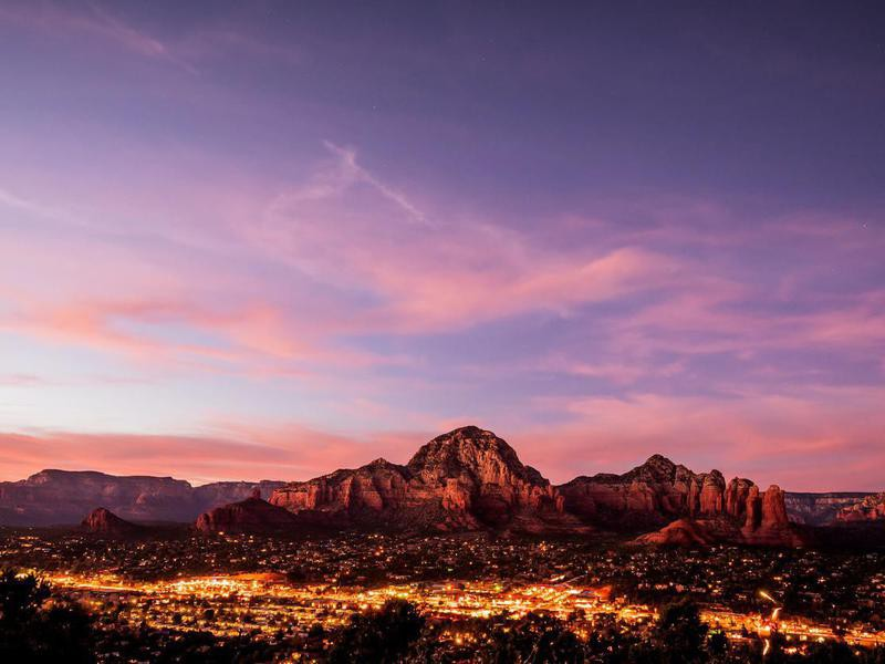 Sedona mountains viewed from Airport Mesa, in Arizona, USA