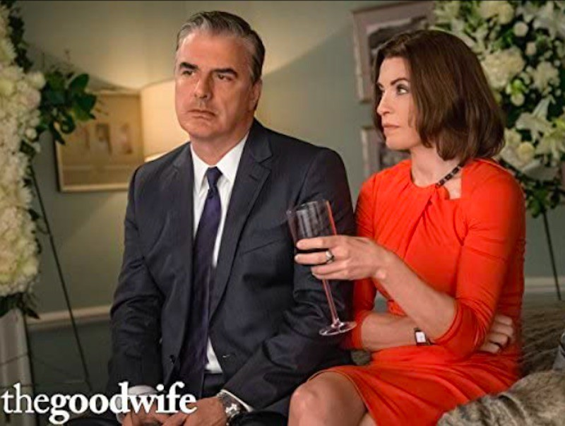 Julianna Margulies and Chris Noth in The Good Wife