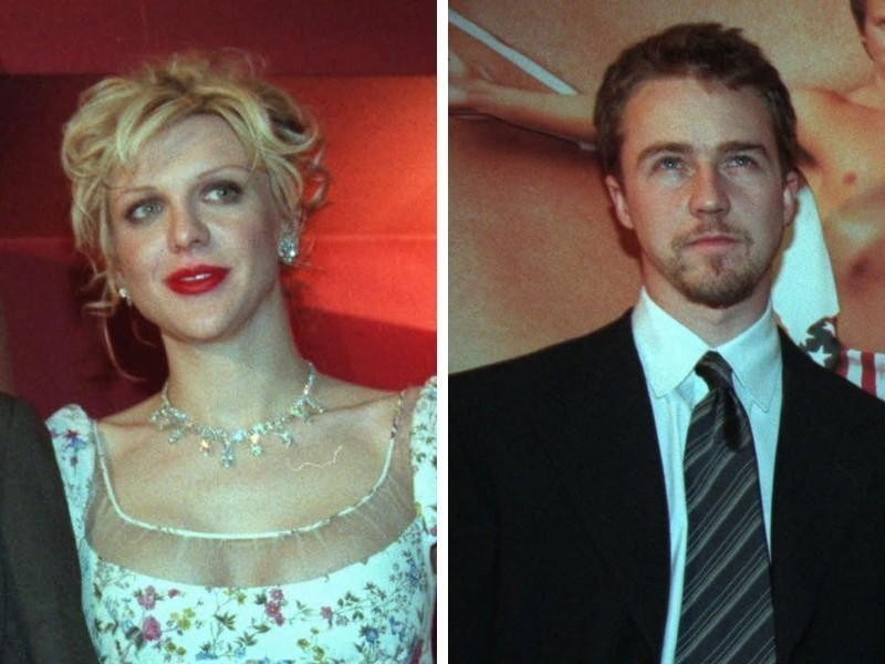 Courtney Love and Edward Norton