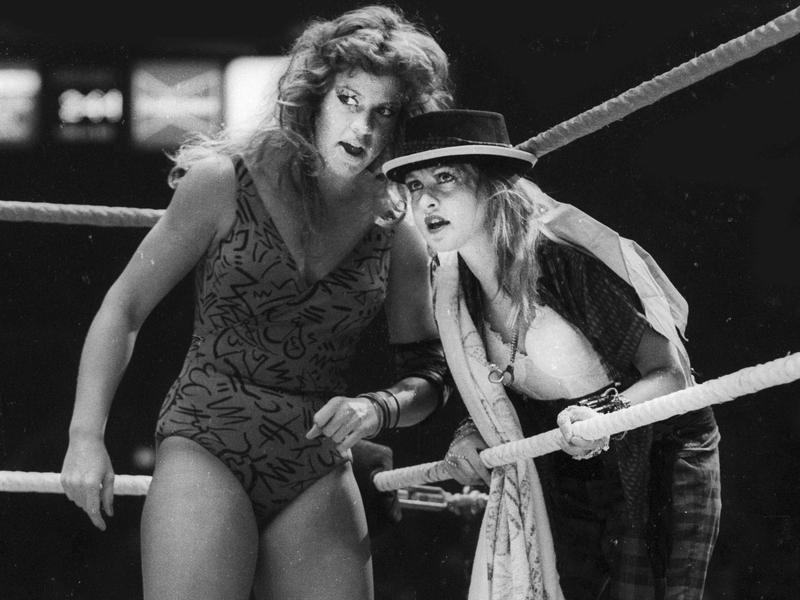 Wendi Richter and Cyndi Lauper