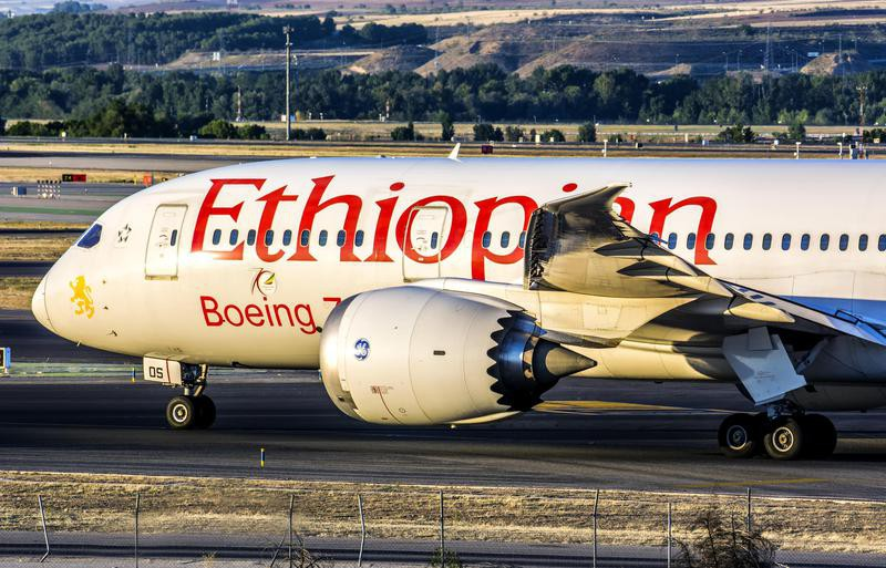 Ethiopian Airlines at airport