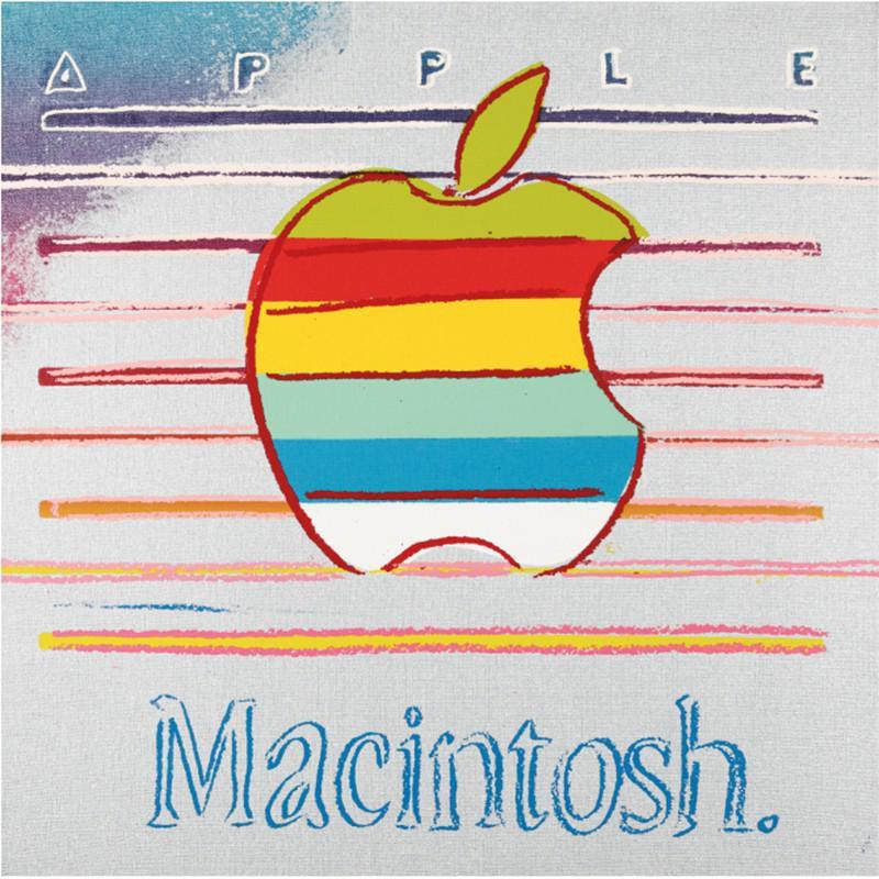 Andy Warhol Apple Logo