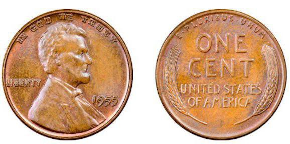 1955 Lincoln Wheat Cent (Doubled-Die Obverse)