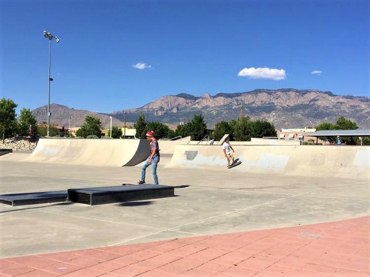 North Domingo Baca Skateboarding Park in Albuquerque, New Mexico