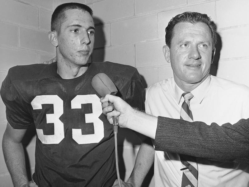 Bobby Burnett and Frank Broyles