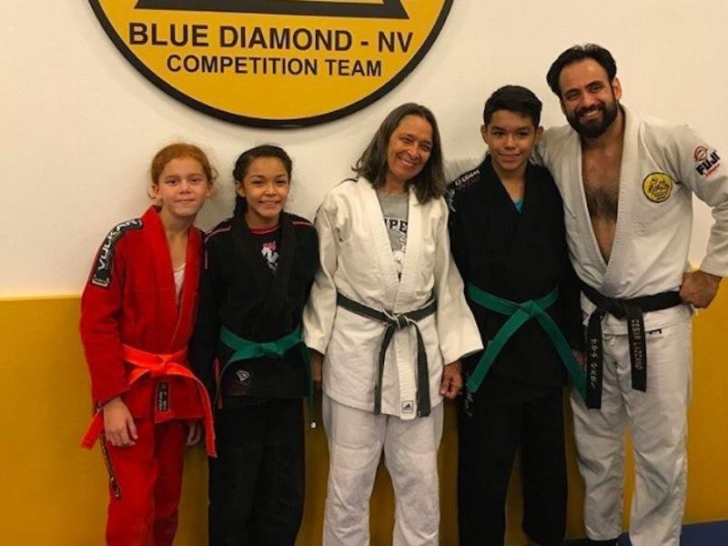 AnnMaria De Mars with her students at Lazcano Judo