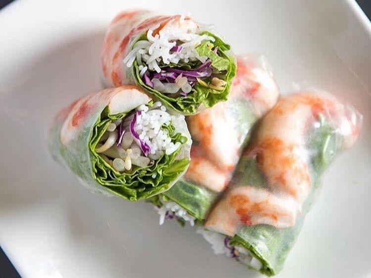 The Purple Mint Vegan Bistro food