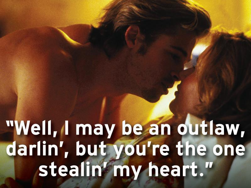Brad Pitt and Geena Davis in Thelma & Louise (1991)