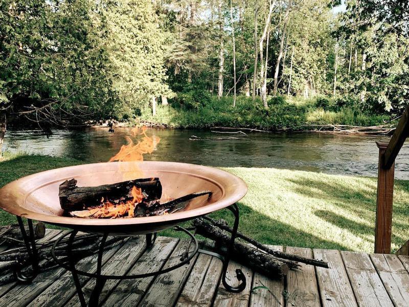 Airbnb A-frame cabin in Michigan