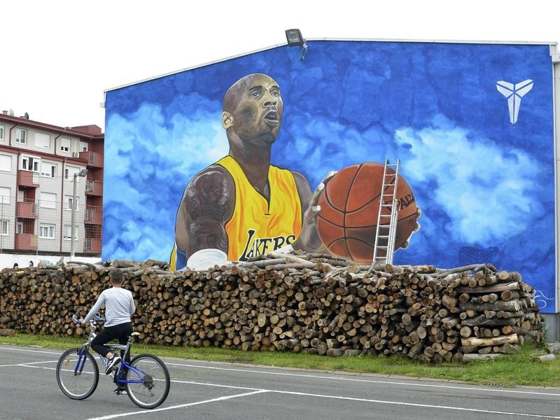 Kobe Bryant mural in Bosnia