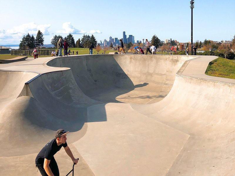 Jefferson Skate Park in Seattle, Washington