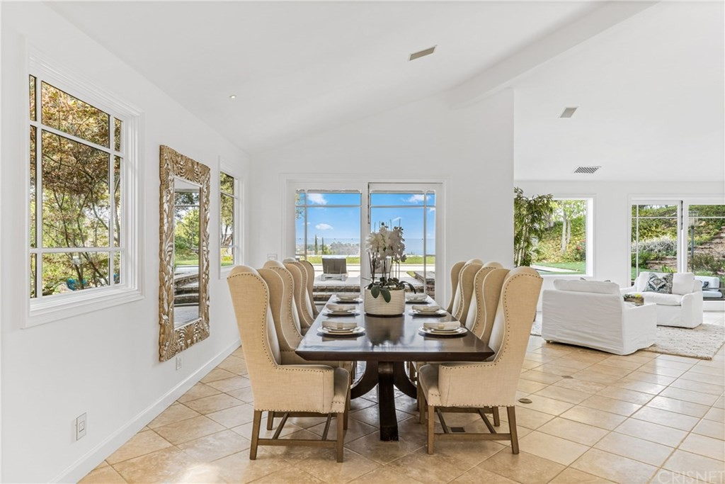 Dining room in Joe Rogan's house in California